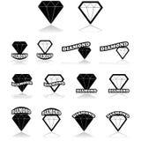 Icone del diamante illustrazione di stock