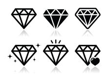 Icone del diamante messe Immagine Stock