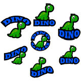 Icone del dinosauro royalty illustrazione gratis