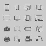 Icone del dispositivo di comunicazione Fotografia Stock