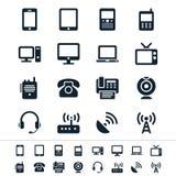 Icone del dispositivo di comunicazione Fotografia Stock Libera da Diritti