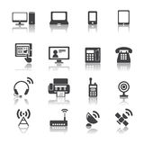 Icone del dispositivo di comunicazione Immagine Stock Libera da Diritti