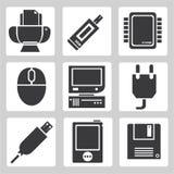 Icone del dispositivo di elettronica Immagine Stock