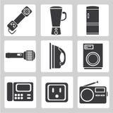 Icone del dispositivo di elettronica, icone della tenuta di casa, segno Immagini Stock Libere da Diritti