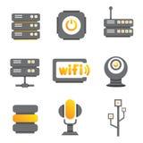 Icone del dispositivo di rete Fotografia Stock