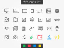 Icone del dispositivo messe Fotografie Stock