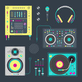 Icone del DJ Immagine Stock
