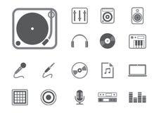 Icone del DJ messe Fotografia Stock