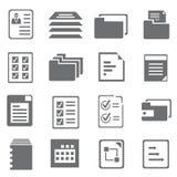 Icone del documento Fotografia Stock
