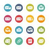 Icone del email -- Serie fresca di colori Fotografie Stock Libere da Diritti