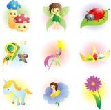 Icone del fairy di fantasia Fotografie Stock