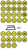 Icone del ferro Immagini Stock