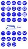 Icone del ferro Fotografia Stock Libera da Diritti