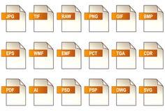 Icone del file di grafica (EPS+JPG) Fotografie Stock