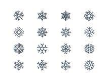 Icone del fiocco di neve Fotografie Stock