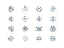 Icone 5 del fiocco di neve Immagine Stock Libera da Diritti