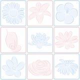 Icone del fiore Fotografia Stock