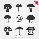 Icone del fungo Fotografia Stock Libera da Diritti