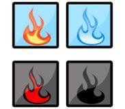Icone del fuoco Fotografie Stock
