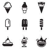 Icone del gelato Immagini Stock Libere da Diritti