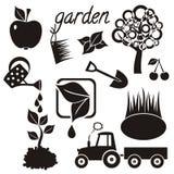 Icone del giardino Immagini Stock Libere da Diritti