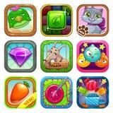 Icone del gioco Fotografia Stock