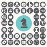 Icone del gioco messe Immagine Stock