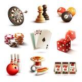 Icone del gioco messe Immagini Stock