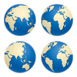 Icone del globo Immagine Stock