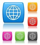 Icone del globo Fotografia Stock Libera da Diritti