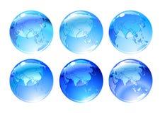 Icone del globo Immagini Stock Libere da Diritti
