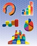 Icone del grafico Fotografia Stock Libera da Diritti