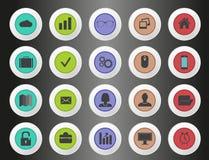 Icone del grafico di informazioni Fotografia Stock