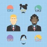 Icone del gruppo di affari dell'avatar messe Fotografia Stock Libera da Diritti