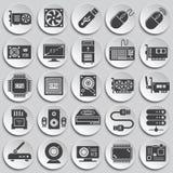 Icone del hardware messe su fondo per il grafico ed il web design Illustrazione semplice Simbolo di concetto di Internet per royalty illustrazione gratis