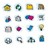 Icone del Internet illustrazione vettoriale