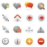 Icone del Internet & di Web site impostate | Serie rosso 01 Immagini Stock