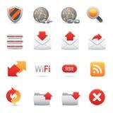 Icone del Internet & di Web site impostate | Serie rosso 03 Immagini Stock