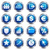 Icone del Internet & di Web site - INSIEME TRE Fotografie Stock