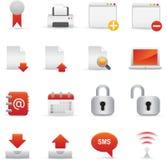 Icone del Internet | Colore rosso 06 Fotografie Stock