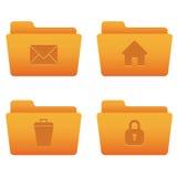 Icone del Internet | Dispositivi di piegatura arancioni 04 Immagine Stock