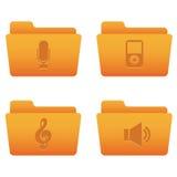 Icone del Internet | Dispositivi di piegatura arancioni 05 Fotografia Stock