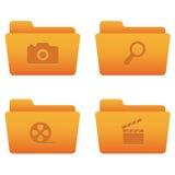 Icone del Internet | Dispositivi di piegatura arancioni 06 Fotografie Stock
