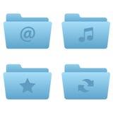 Icone del Internet | Dispositivi di piegatura blu-chiaro 01 Fotografia Stock