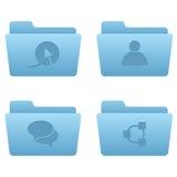 Icone del Internet | Dispositivi di piegatura blu-chiaro 02 Fotografia Stock Libera da Diritti