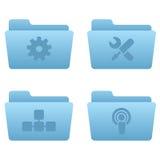 Icone del Internet | Dispositivi di piegatura blu-chiaro 03 Fotografia Stock