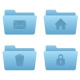 Icone del Internet | Dispositivi di piegatura blu-chiaro 04 Immagini Stock