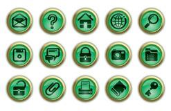 Icone del Internet e di Web site Fotografie Stock
