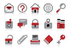 Icone del Internet e di Web site Fotografie Stock Libere da Diritti
