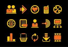 Icone del Internet e di Web site Fotografia Stock Libera da Diritti